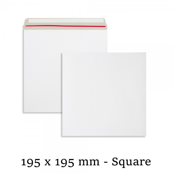 White All Board 195mm x 195mm Envelopes