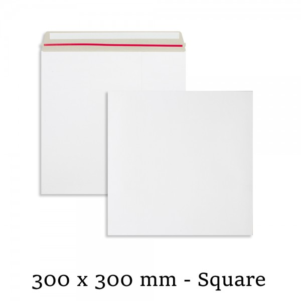 "10"" Record Mailers White All Board 300mm x 300mm Envelopes"