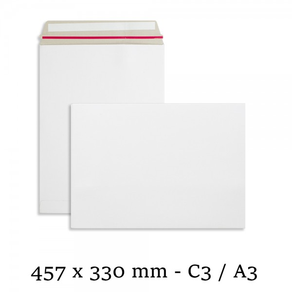 A3 White All Board 457mm x 330mm Envelopes