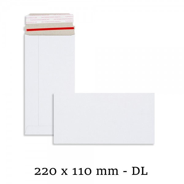 DL SIZE White All Board 220mm x 110mm Envelopes