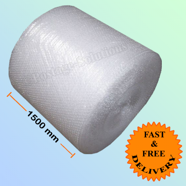 Small Bubble wrap 1500mm (1.5 M) Wide x 100m Long Approx.