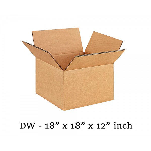 "18"" x 18"" x 12"" 457mm x 457mm x 305mm Double Wall Cardboard Boxes"