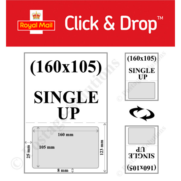 INTEGRATED LABELS 160MM X 105MM FOR Royal Mail Click & Drop - GOOD QUALITY