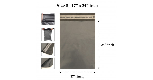 """200 X 12/"""" x 16/"""" Large STRONG Grey Mail Mailing Packing Post Bags 24HOUR DELIVERY"""