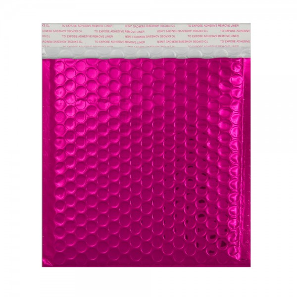 Hot Pink Metallic Strong Seal Bubble Envelopes - 324 x 230 mm
