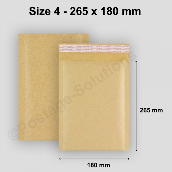 D/1 Size 4 180mm x 265mm Bubble Padded Envelopes - cheap padded envelopes