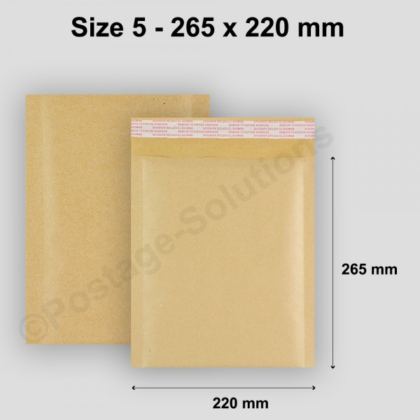 E/2 Size 5 220mm x 265mm Bubble Padded Envelopes - cheap padded envelopes