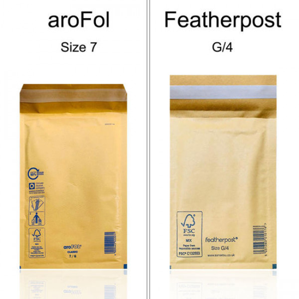 AroFol/Featherpost G/4 Size 7 230mm x 340mm Bubble Padded Envelopes