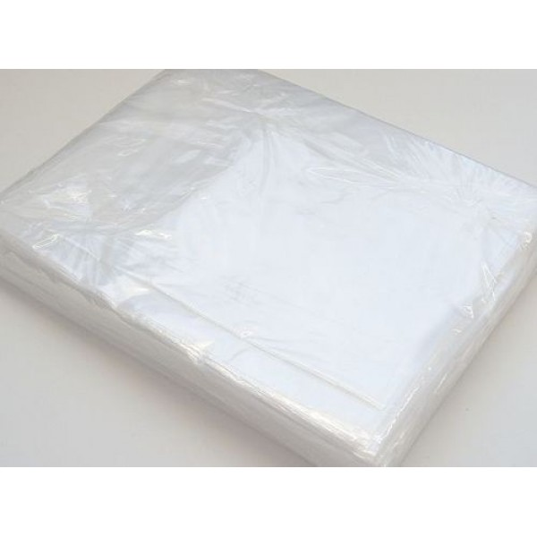 "12 x 18"" inch Clear Polythene Plastic Bags Sizes Crafts Food - 200 Gauge"