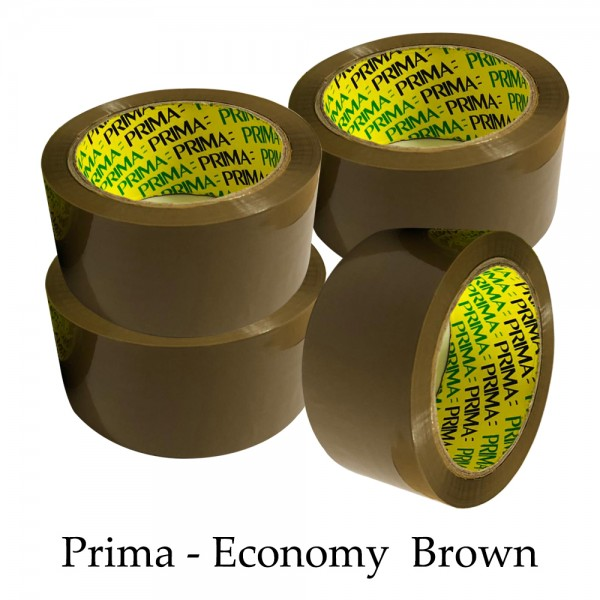 "Prima Brown 2"" inch Parcel Packing Tape 48mm X 66M"
