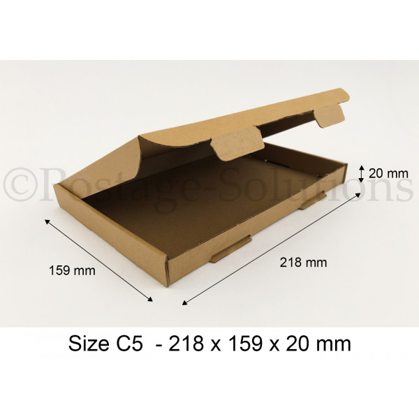 C5 ROYAL MAIL PIP BOXES 218mm x 159mm x 20mm - FOR LARGE LETTER