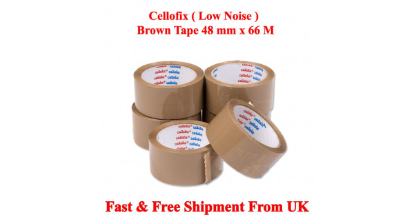 RED Coloured Packaging Tape 48mm x 66m Fast Despatch!