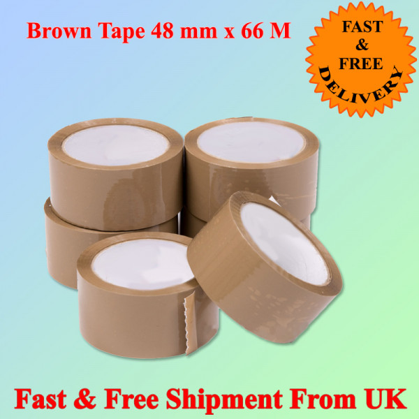 "ECONOMY BROWN POLY PROP PACKAGING TAPE  48MM 2"" X 66M"