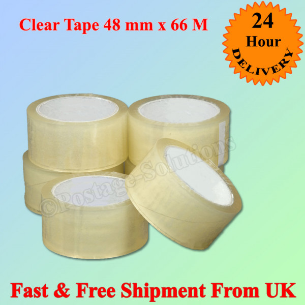 "ECONOMY CLEAR POLY PROP PACKAGING TAPE  48MM 2"" X 66M"