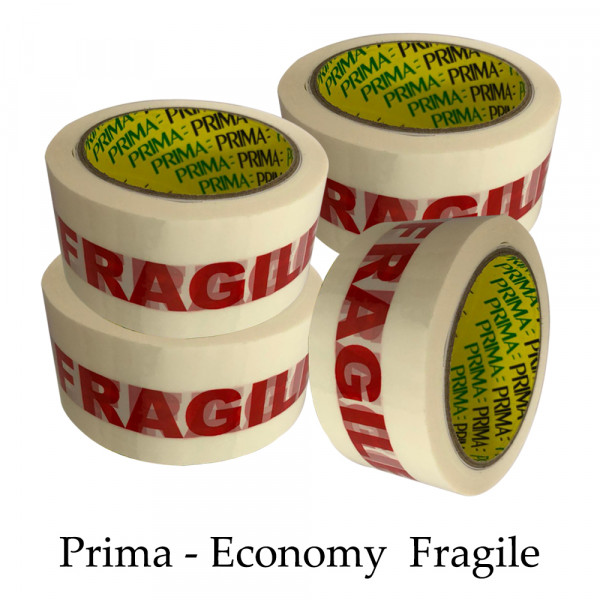 """Prima Fragile 2"""" inch Parcel Packing Tape 48mm X 66M"""